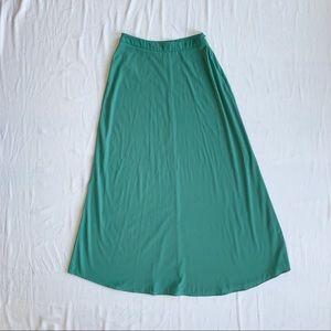 Seafoam Green High Waisted Maxi Skirt